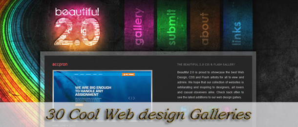 30 Cool Web design Galleries