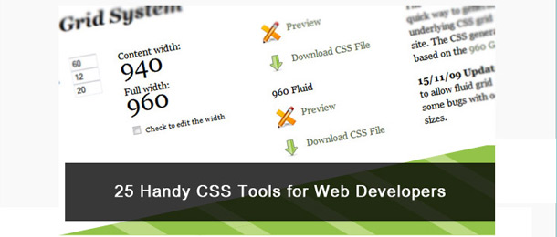25 Handy CSS Tools and Applications for Web developers