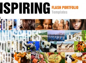 Inspiring Flash Portfolio Templates