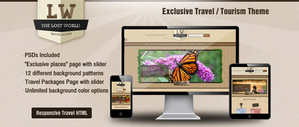 The Lost World – Responsive Travel / Resort HTML Template