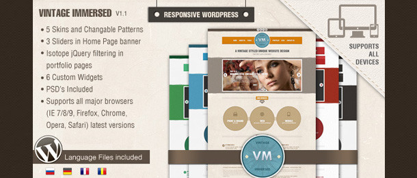 Vintage Immersed – Multipurpose Responsive WordPress Theme