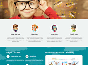 Kids Life – A Trendy Kids HTML Template