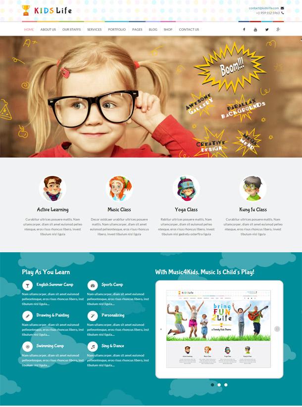 Kids Life – A Trendy Kids HTML Template