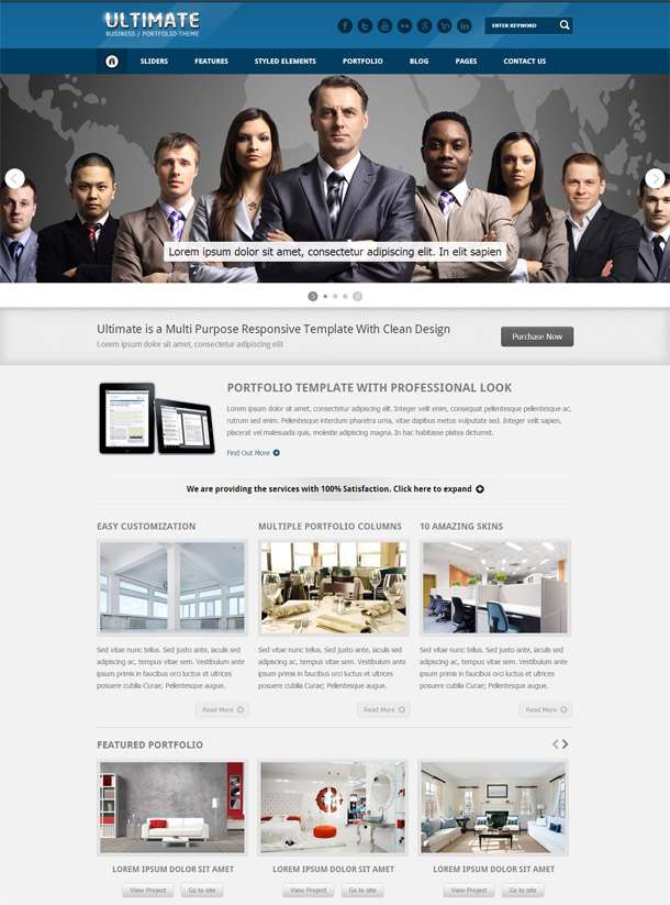 Ultimate – Responsive HTML Template