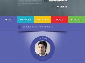 Role – Vibrant One Page Portfolio html template