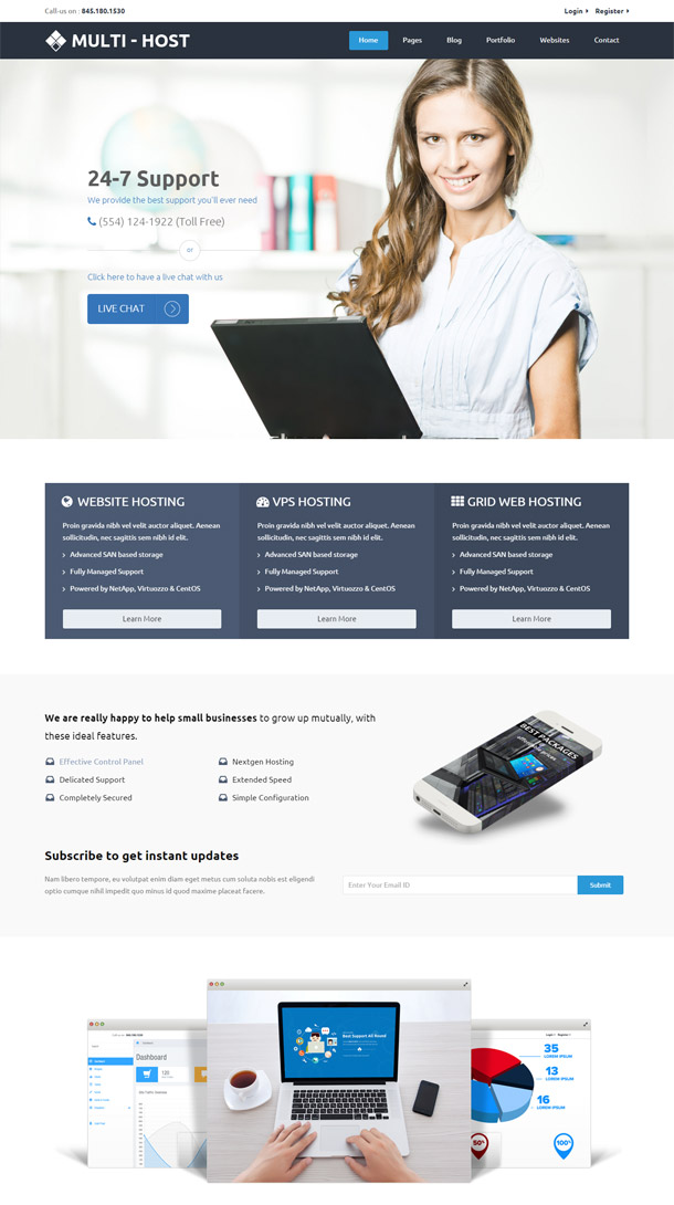 Multi Host – Responsive Hosting Template