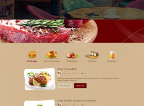 Food & Beverages One Page Template