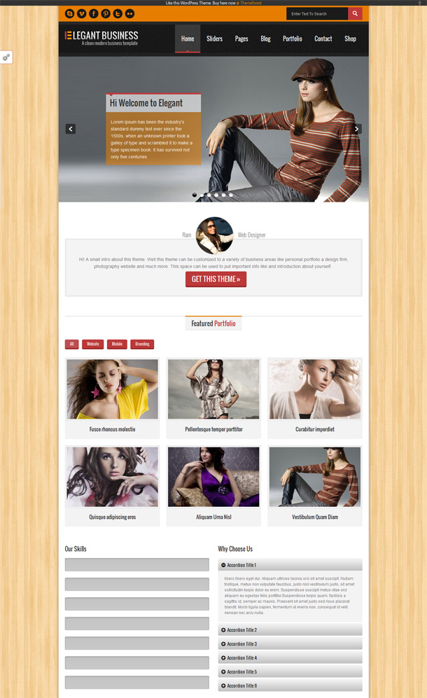 Elegant Business Themes