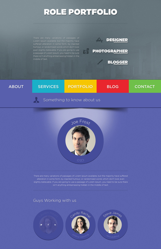 Role Wordpress Theme