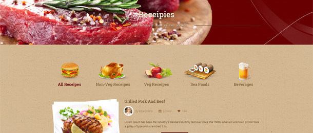 Food Beverages Template